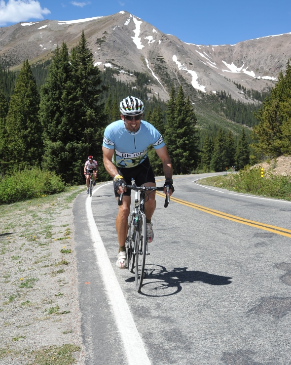 Ride the Rockies Independence Pass - 12,038 feet, Cat. 1 climb