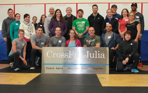 CrossFit Goal Setting. I'm the bald guy in the back. Amundson is the baldly in the front.