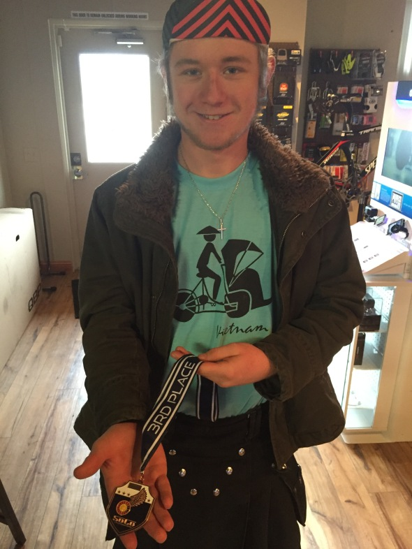 Jeremy Norris, member of the Estes Park High School mountain bike team, shows off his medal from the Colorado State Cyclocross Championships. Via has quickly become that spot to celebrate achievement and share stories.
