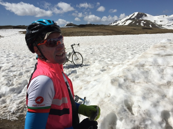 Donald Lewis takes in the snowy view on Independence Pass.
